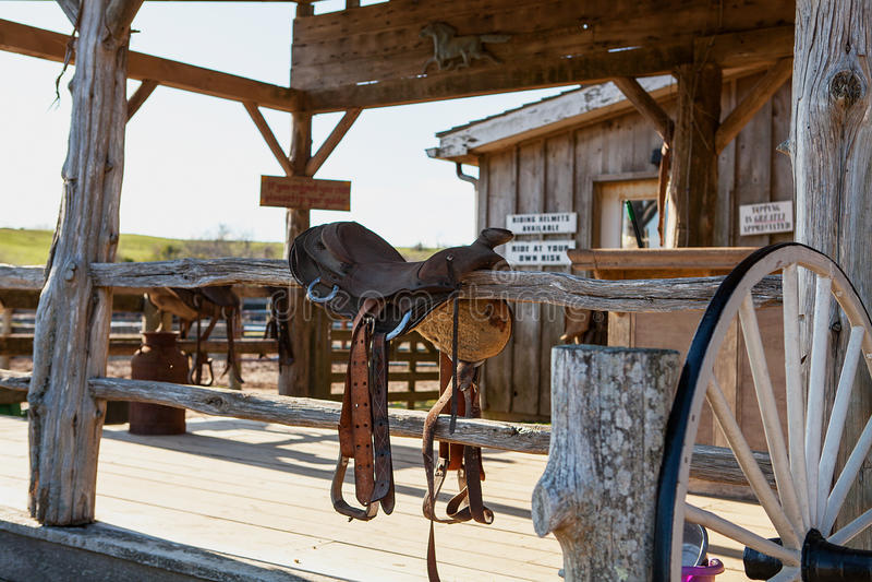 Old abandoned ranch and barn. USA, Montauk royalty free stock photos