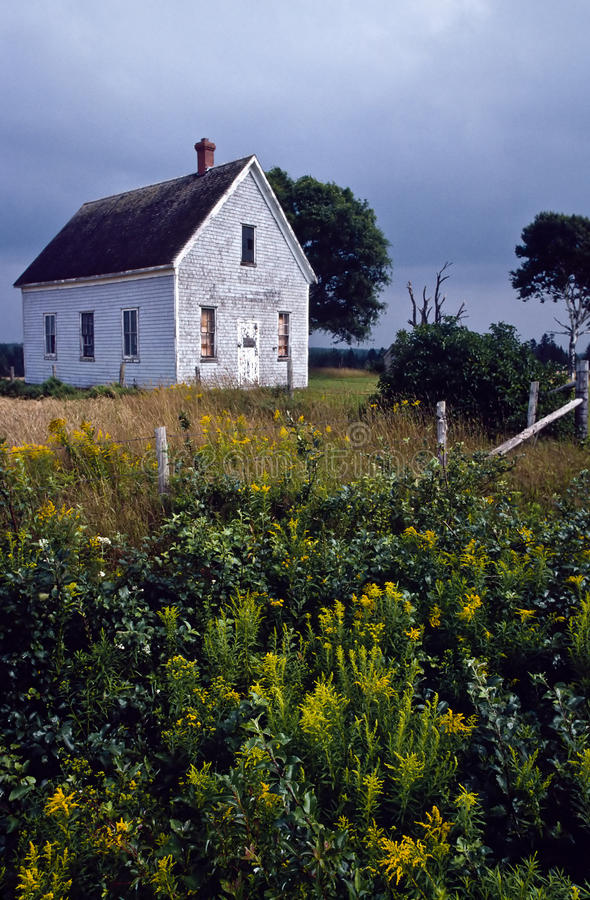 Download Old Abandoned Schoolhouse In A Rural Field Stock Image - Image: 13047243