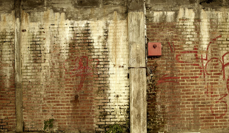 Old abandoned wall