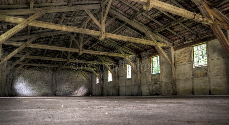 Old abandoned warehouse stock photography