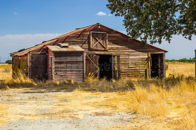 Old Abandoned Weathered Wooden Shed/Barn royalty free stock images