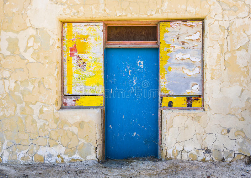 Old abandonned building in Death valley junction royalty free stock photo