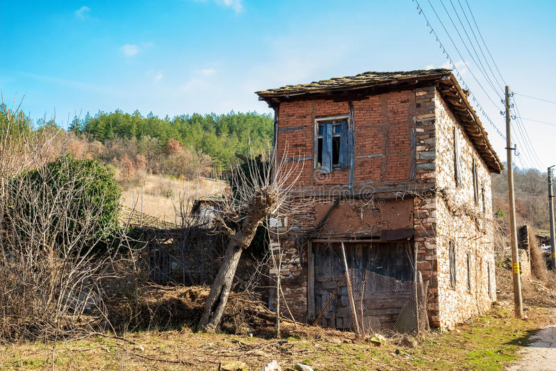 Old abendoned rustic house. Copy space royalty free stock photos