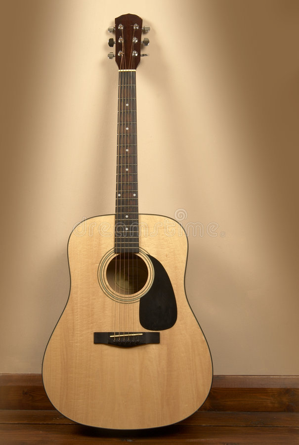 Download Old acoustic guitar stock image. Image of musical, single - 4778209