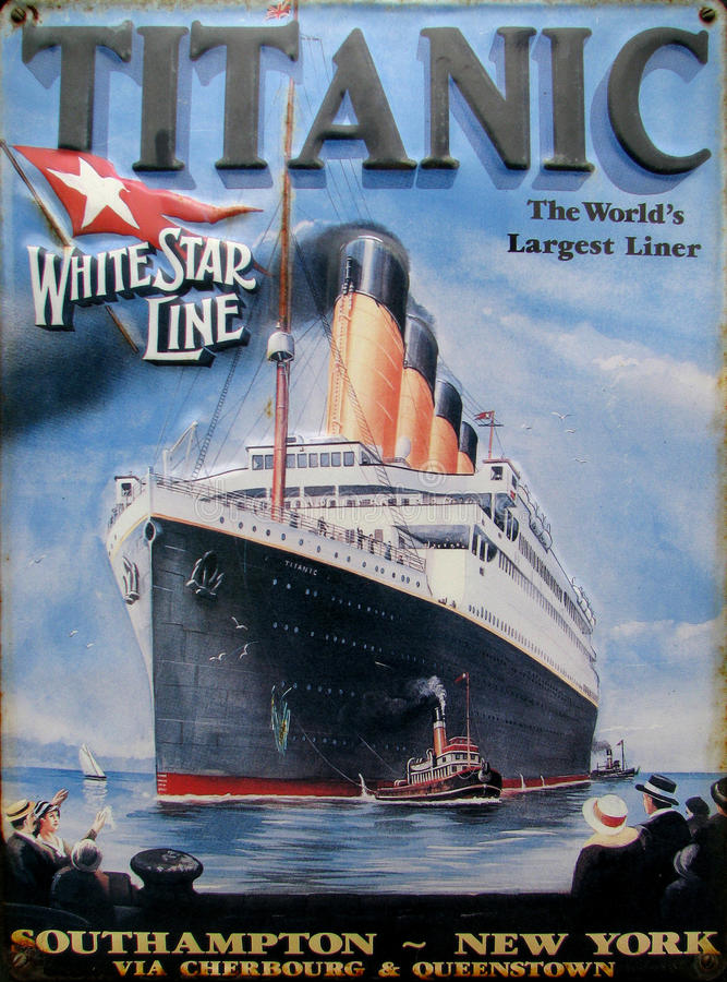 Free Old Advert - Titanic Royalty Free Stock Image - 15687126