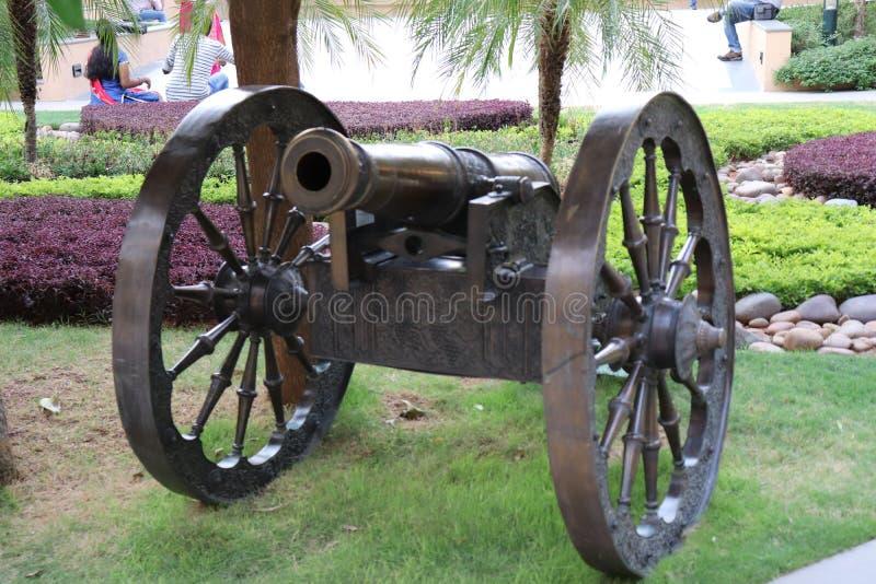 Old age gun canon royalty free stock photos