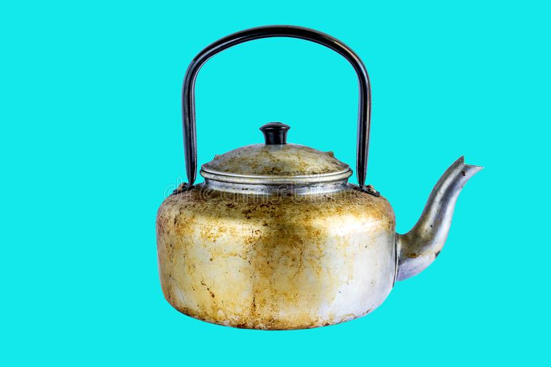 Old aged classic kettle, royalty free stock photos