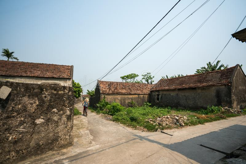Old aged houses in village in Vietnam.  royalty free stock photography