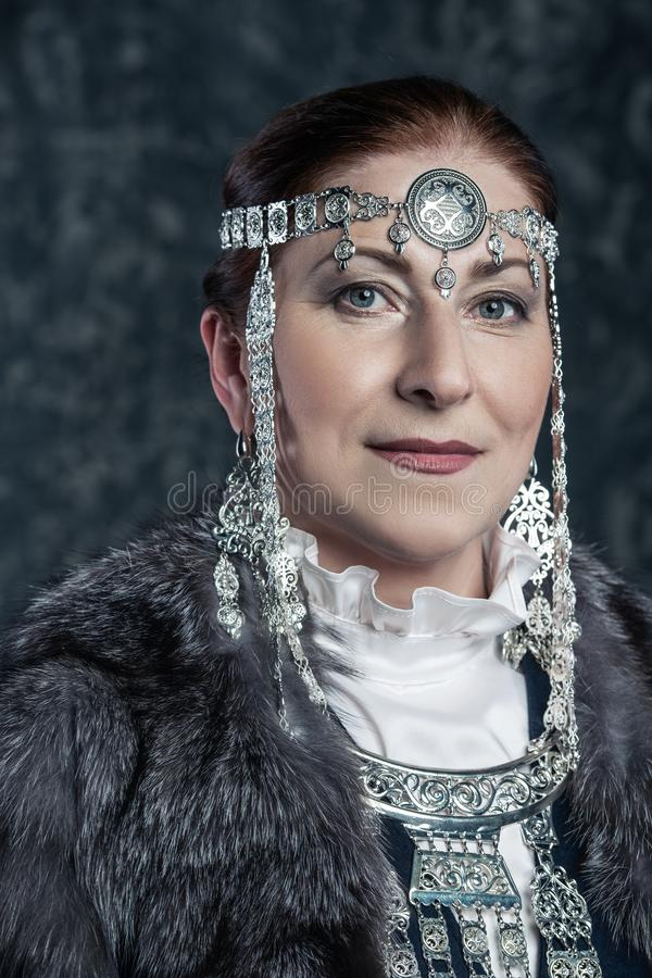 Old-aged national costume stock image