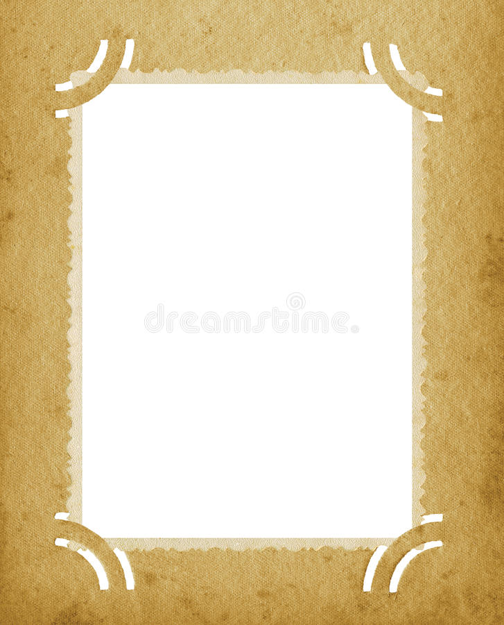Old Aged Vertical Edge Photo Grunge Textured Vintage Retro Album Blank Empty Photograph Portfolio Page Background Stained Postcard vector illustration