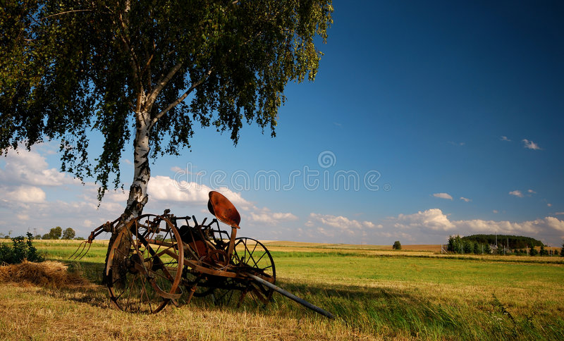 Old Agricultural Fertilize Machine Royalty Free Stock Photos