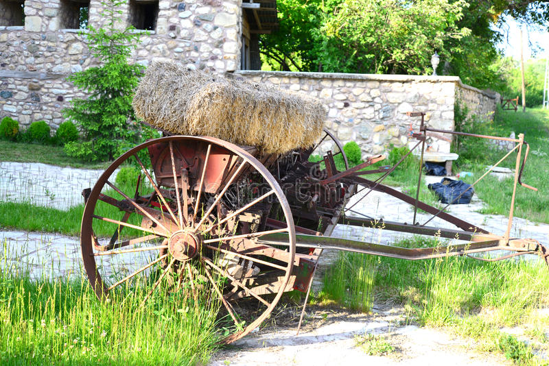 Old agricultural vehicle stock image