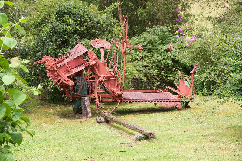 Old agriculture machinery at the German Museum at Frutillar, Chile. Old agriculture machinery at the German Museum a Frutillar, a town in Southern Chile in the royalty free stock photos