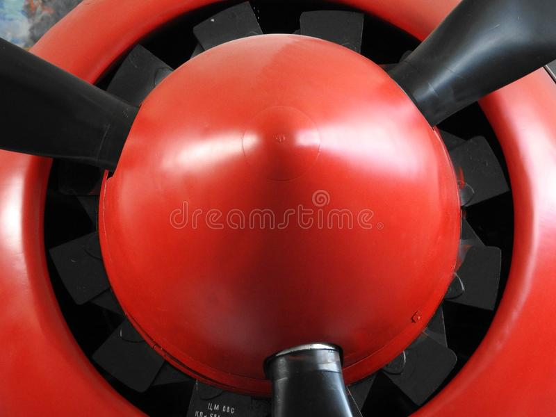 Old aircraft near, skin, parts and engine components. Plane airplane background retro detail metal technology vintage military antique propeller flight grunge stock photos
