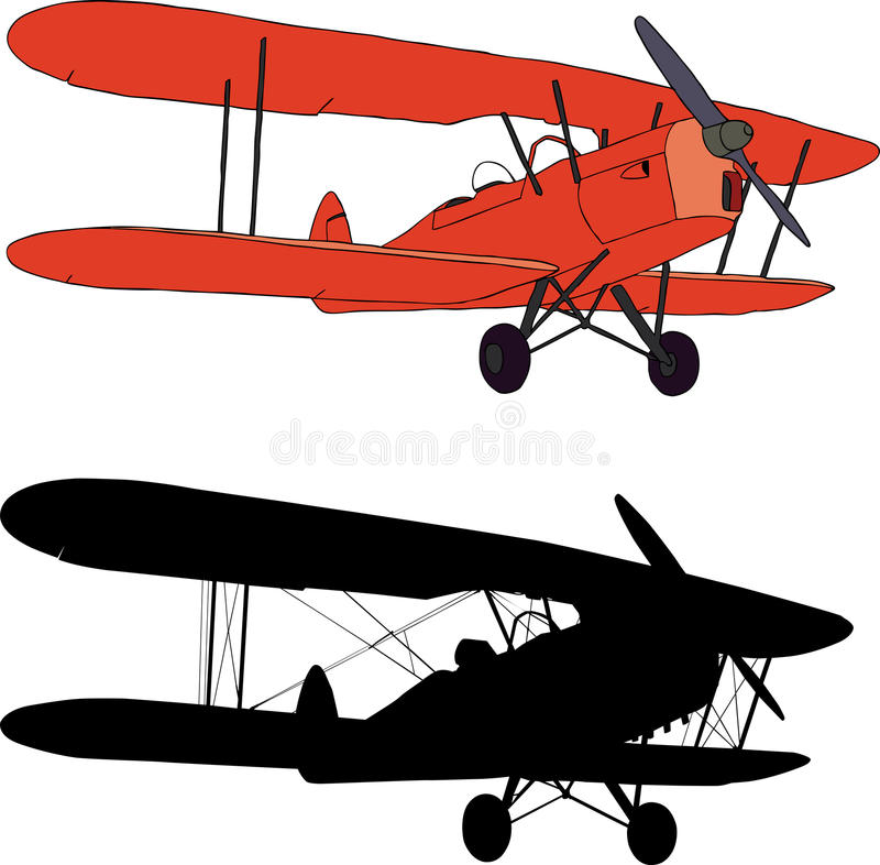 Download Old airplane stock vector. Image of flying, propeller - 13527095