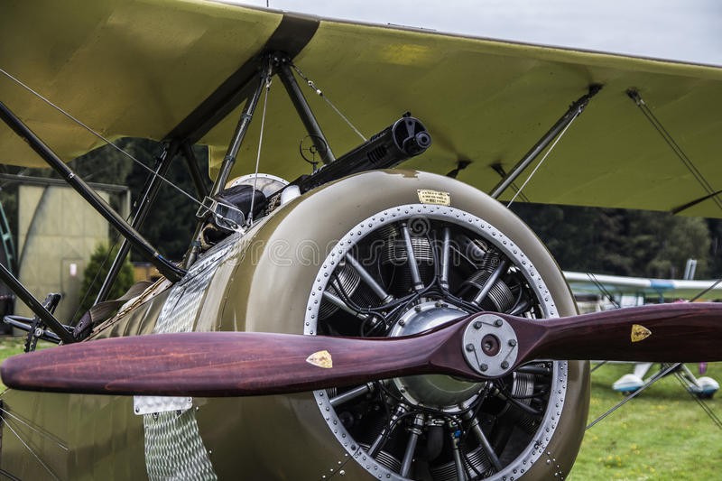 Old Airplane. Old war airplane at the airport royalty free stock photos