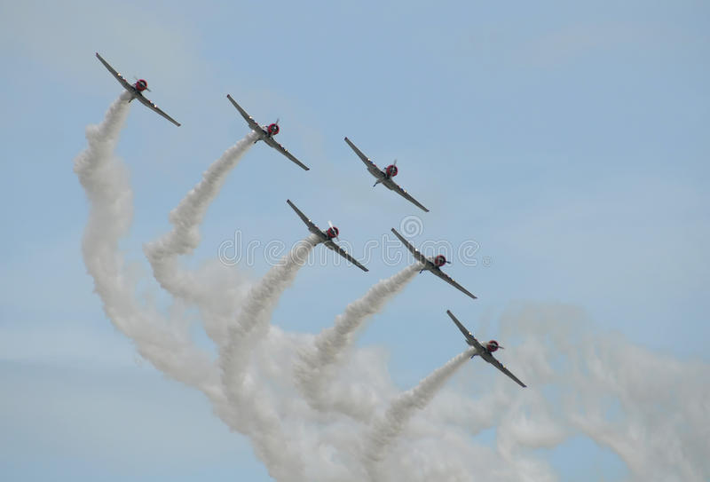 Download Old airplanes in formation stock image. Image of skill - 11883709