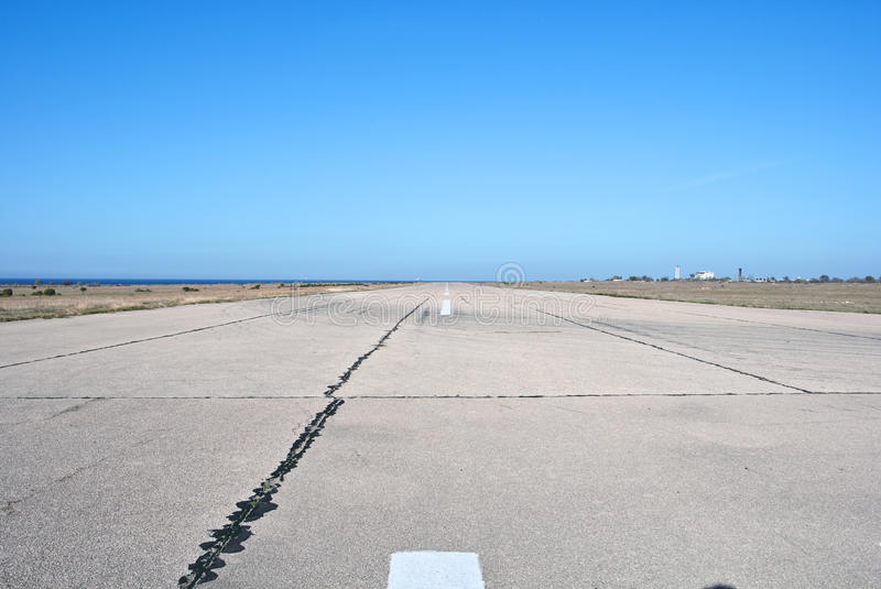 Old airport runway stock image