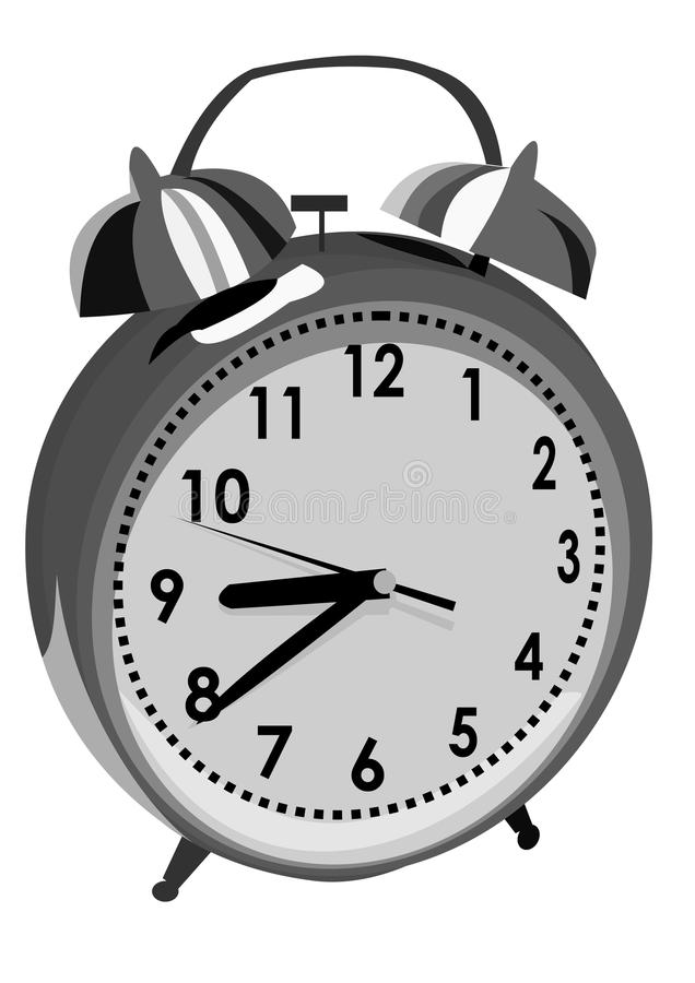 Download Old alarm clock stock vector. Image of second, awake - 26624814