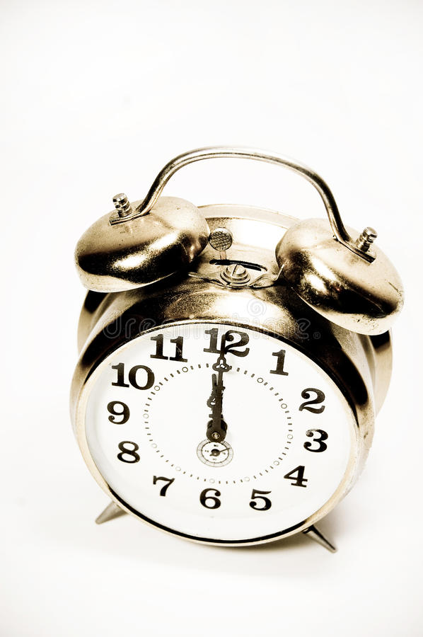 Download Old Alarm Clock Isolated, Vintage Style Stock Image - Image: 11773711