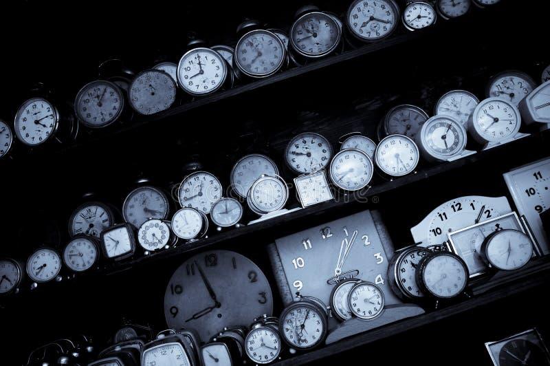 Old alarm clocks stock photos