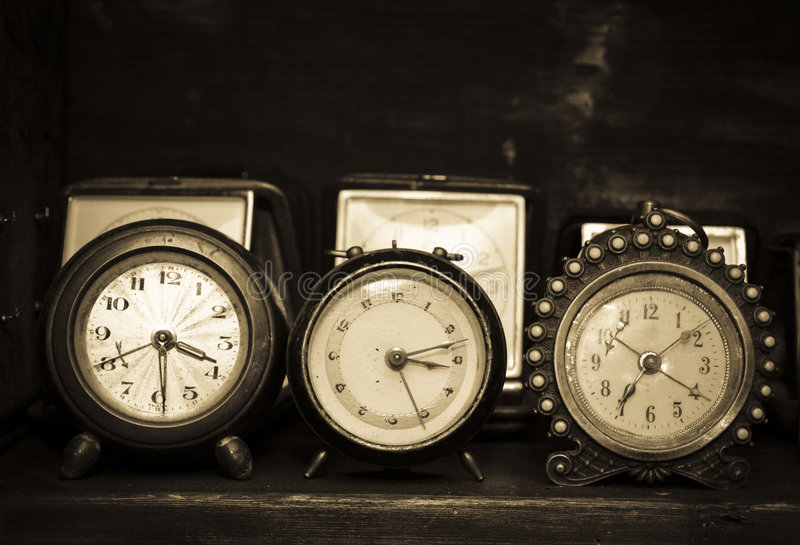 Download Old alarm clocks stock image. Image of chronometer, used - 4128181