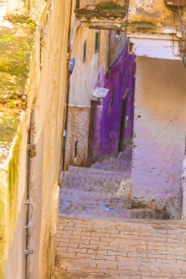 Old Algiers. A street in the old Algiers, the capital of Algeria royalty free stock photography