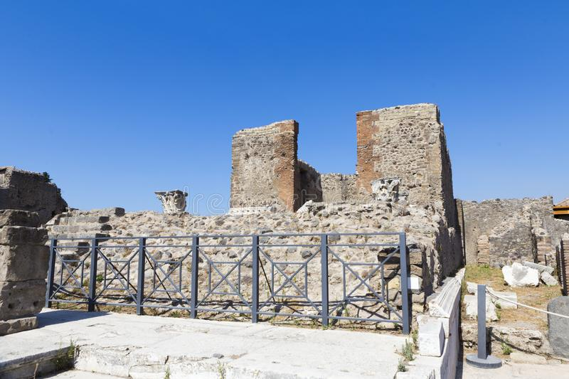Old alley and houses from Pompeii city. Italy landmark destination vacation royalty free stock images