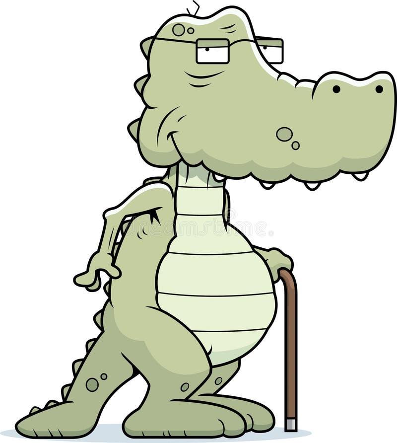 Old Alligator royalty free illustration