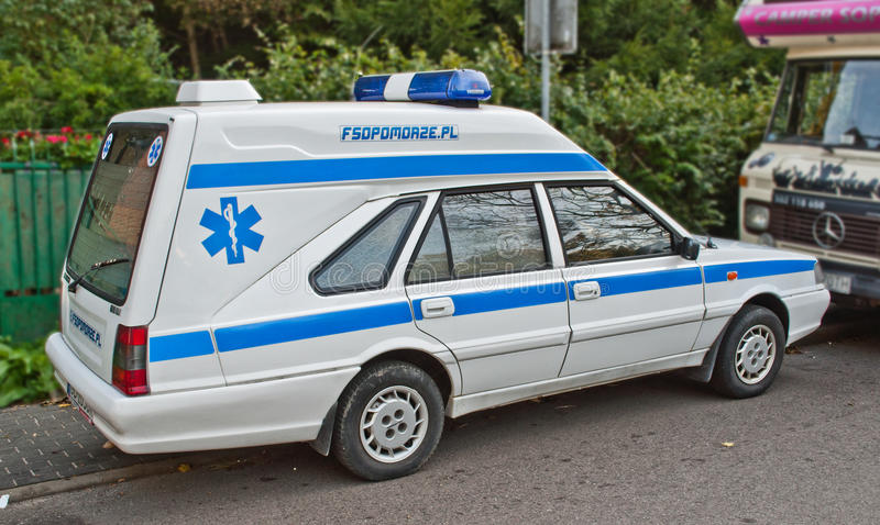old ambulance car polonez at a car show editorial photography image 65766157. Black Bedroom Furniture Sets. Home Design Ideas