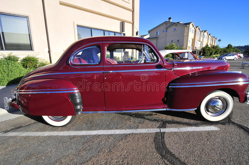 Old american car. In exposition at El Cajon, California royalty free stock image