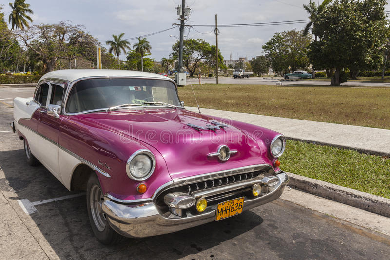 Old American car in Hvana royalty free stock photos