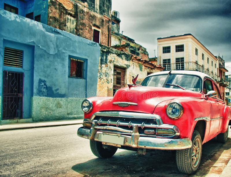 Old american car parked on the street of habana, cuba. Old american car parked on the street of habana royalty free stock photography