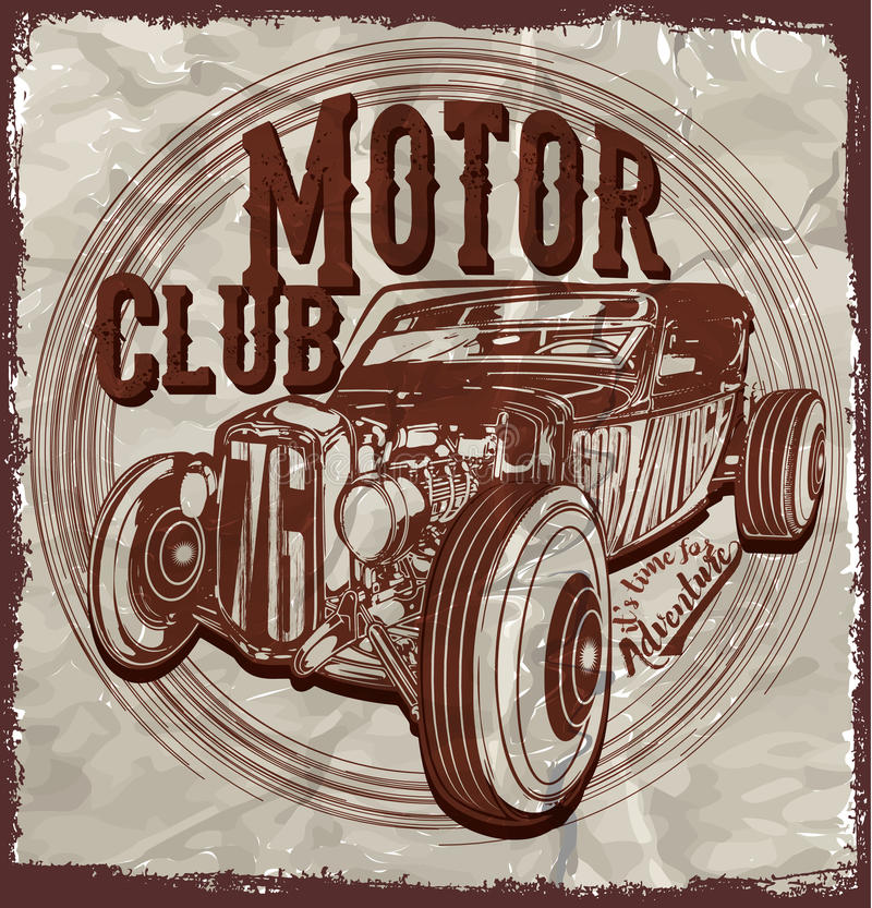 Old american car vintage classic retro man t shirt graphic for American classic design