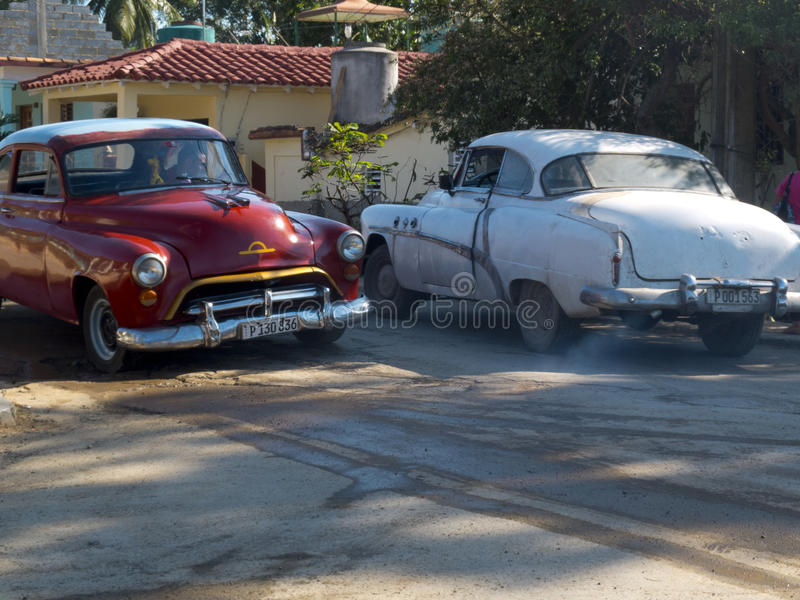 Old american cars in Cuba. royalty free stock photo