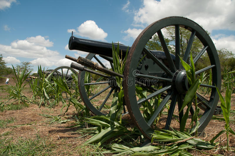 Old American Civil War cannons royalty free stock photography