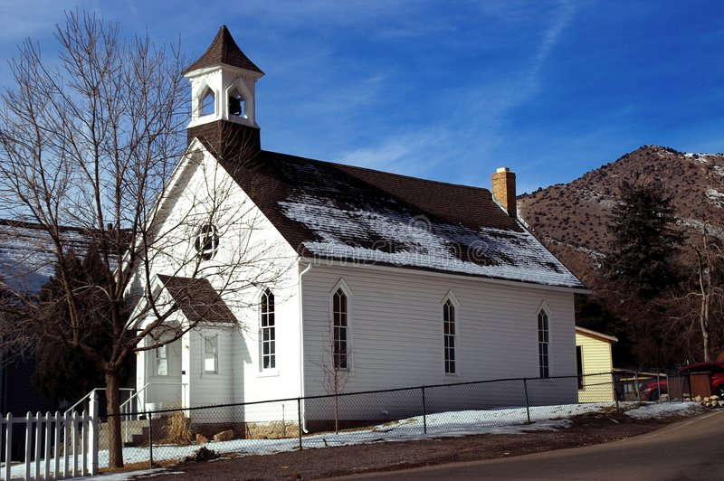 Old American Country Church stock image