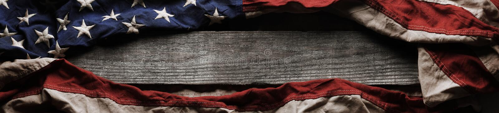 Old American flag background royalty free stock photography