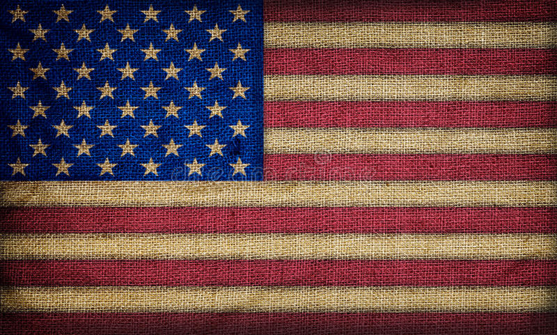 Old American flag. Retro background royalty free stock photo