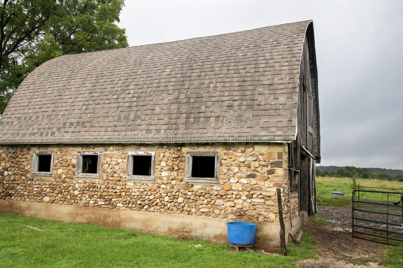 Old Amish rock barn royalty free stock image