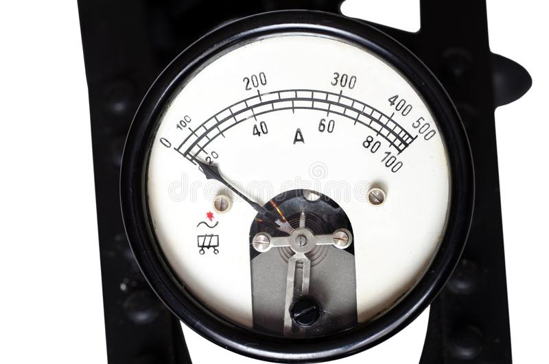 Old ammeter stock image