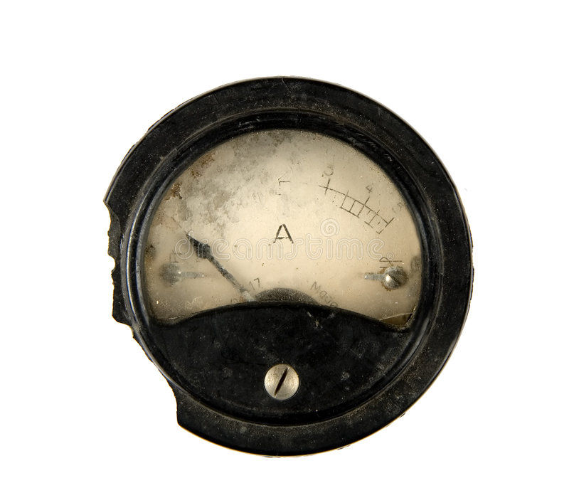 Old ammeter royalty free stock images