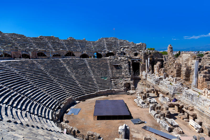 Download Old Amphitheater In Side, Turkey Stock Photo - Image: 24499724