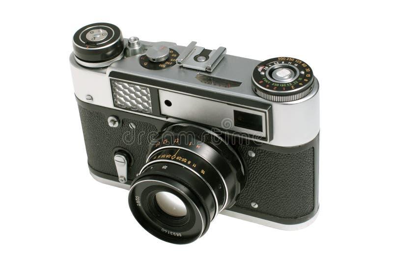 Old analog camera. Old analog CCCR camera isolated stock photo