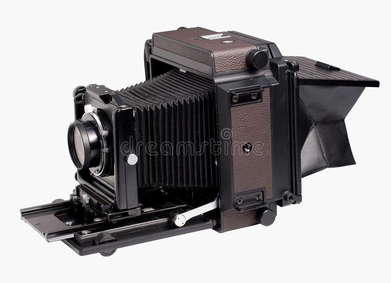 Old analog camera. Isolated from background royalty free stock image