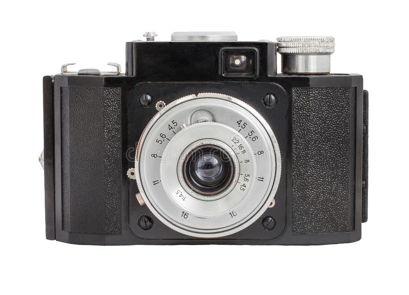 Download Old Analog Camera On Film 35mm Format Isolated On A White Background Stock Photo - Image: 48687716