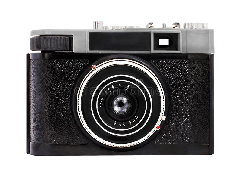 Download Old Analog Camera On Film 35mm Format Isolated On A White Background Stock Photo - Image: 48768348
