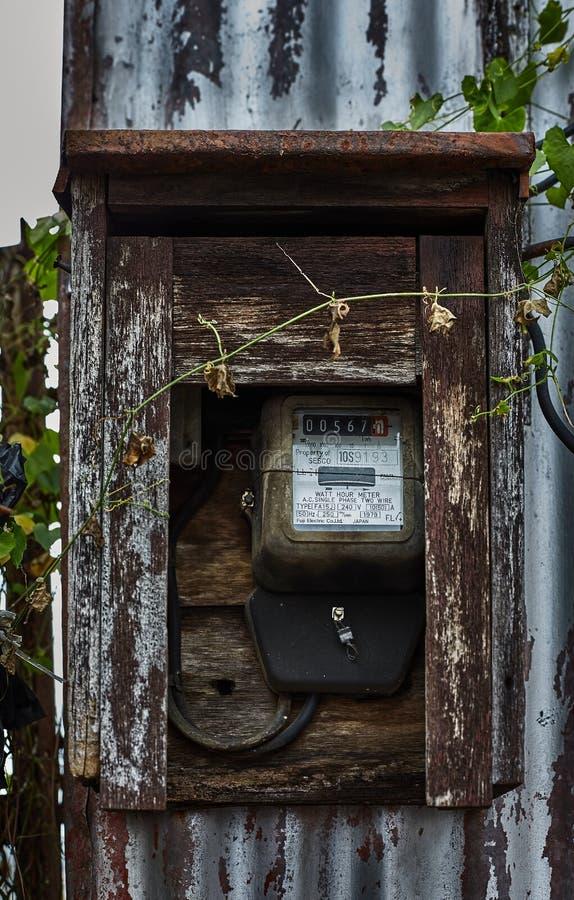 Old Analog Power Meter stock photo