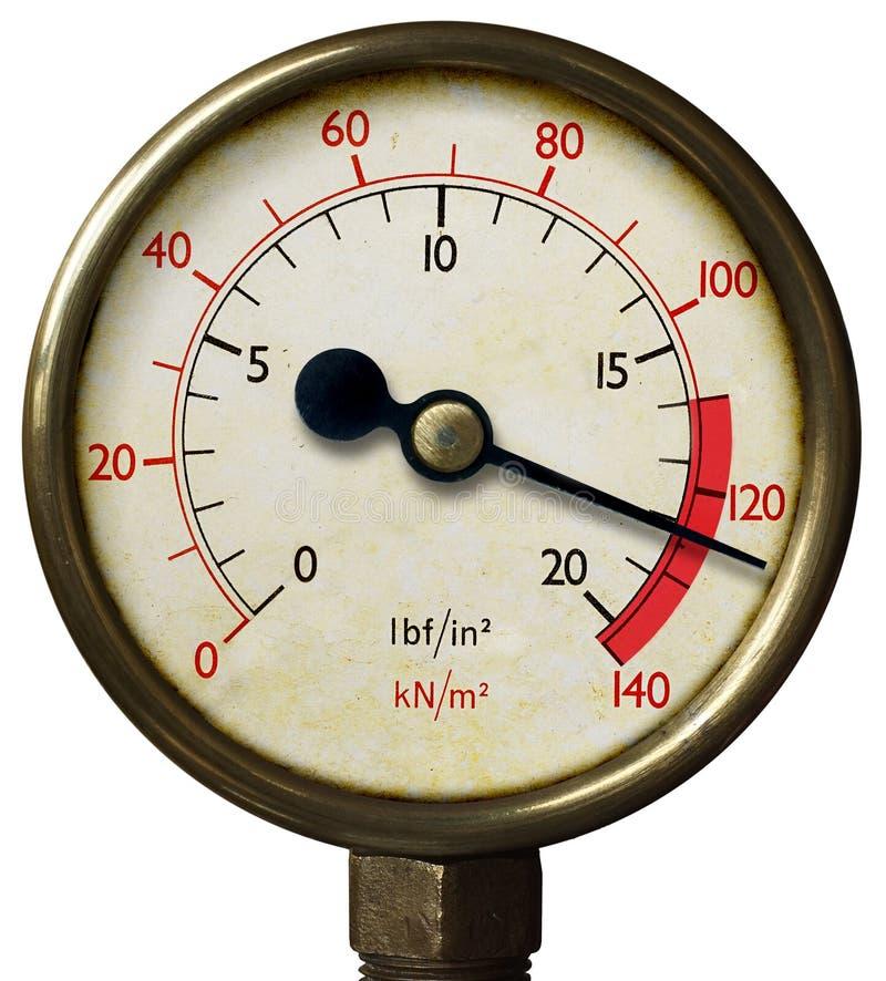 Old  Pressure Meter stock photos