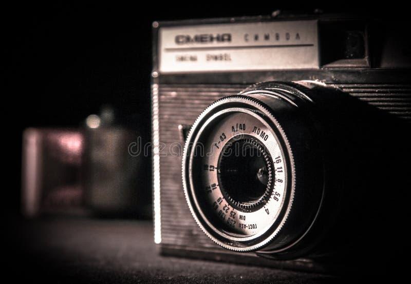 Old analog russian camera stock photo